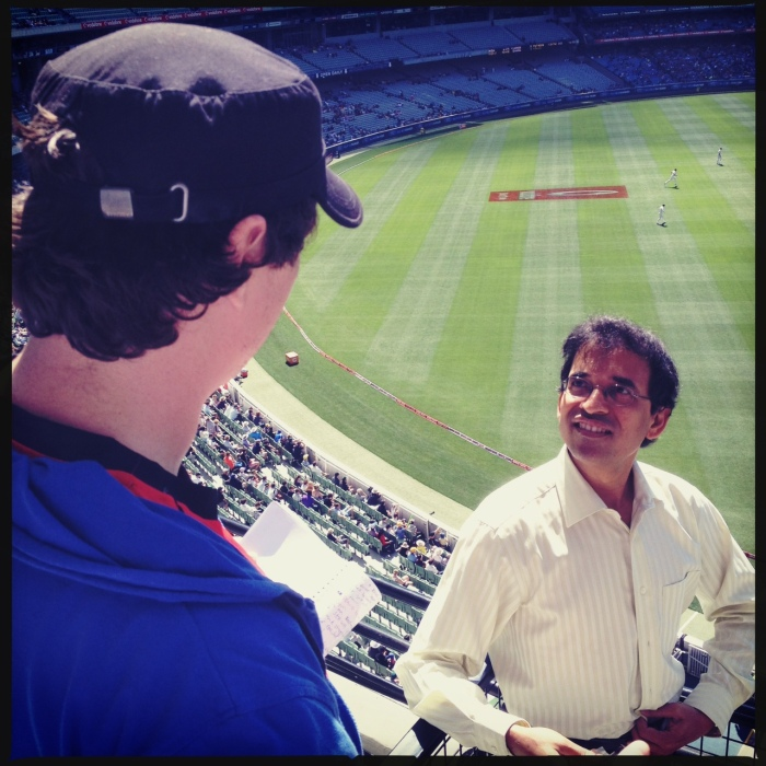 Jarrod and Harsha Bhogle