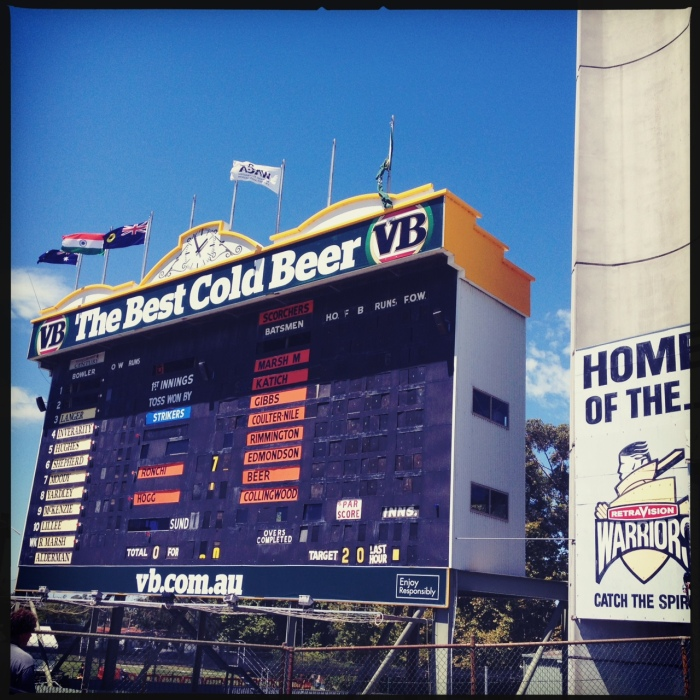 Perth scoreboard