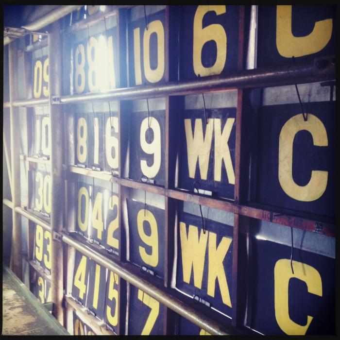 Inside the scoreboard