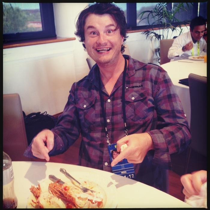 Jarrod gets free lobster