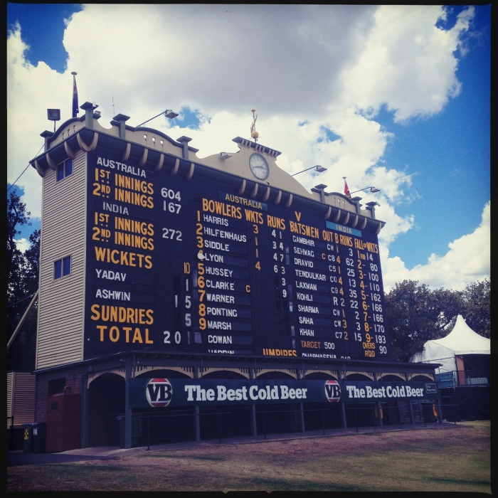 Adelaide scoreboard
